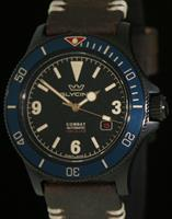 Pre-Owned GLYCINE COMBAT SUB BLACK AND BLUE