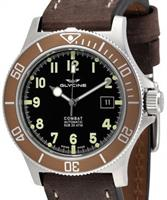 Pre-Owned GLYCINE COMBAT SUB BROWN AUTOMATIC