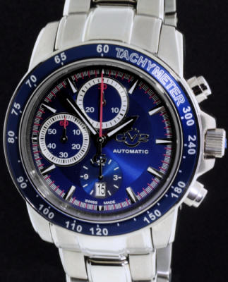 Pre-Owned GEVRIL GV2 BLUE AUTOMATIC CHRONOGRAPH