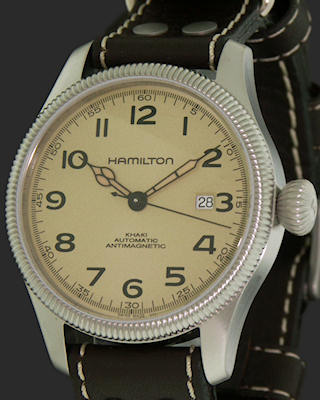 Pre-Owned HAMILTON LARGE KHAKI PIONEER AUTOMATIC