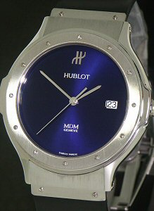 Pre-Owned HUBLOT MDM QUARTZ BLUE