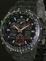 Pre-Owned CITIZEN SKYHAWK A-T FLIGHT CHRONO BLAC