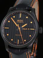 Pre-Owned MIDO MULTIFORT BLACK/ORANGE