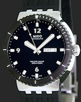 Pre-Owned MIDO BLACK DIVER W/HELIUM VALVE
