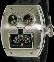 Pre-Owned AZIMUTH MR.ROBOTO RETROGRADE GMT