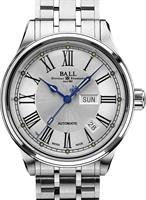 Pre-Owned BALL TRAINMASTER ROMAN WHITE DIAL