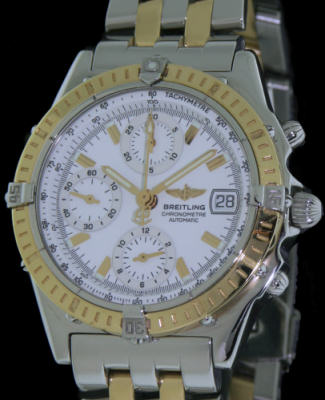 Pre-Owned BREITLING CHRONOMAT 18KT GOLD AND STEEL