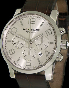 Pre-Owned MONTBLANC TIMEWALKER CHRONO SILVER