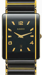 Pre-Owned RADO INTEGRAL BLACK CERAMIC & GOLD