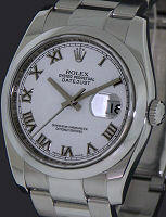 Pre-Owned ROLEX DATEJUST WHITE