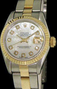 Pre-Owned ROLEX DATEJUST MOP DIAMOND DIAL