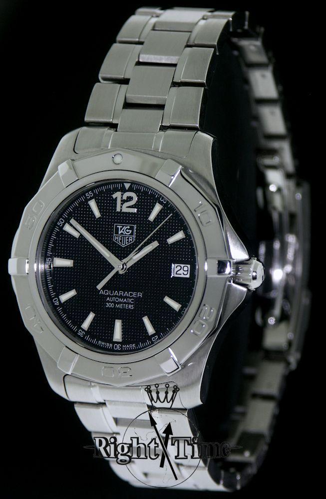 tag heuer aquaracer automatic black waf2110 ba0806 pre