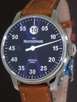 Pre-Owned MEISTERSINGER JUMP HOUR BLUE DIAL AUTOMATIC