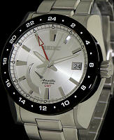 Pre-Owned SEIKO SPRING DRIVE GMT SILVER DIAL