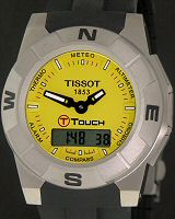 Pre-Owned TISSOT T-TOUCH TREKKING YELLOW TITAN