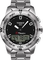 Pre-Owned TISSOT T-TOUCH STEEL BLACK DIAL