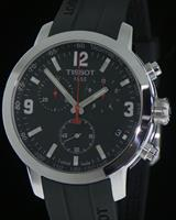 Pre-Owned TISSOT PRC200 CHRONO BLACK DIAL