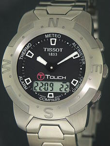 Pre-Owned TISSOT T-TOUCH BLACK STAINLESS STEEL