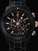 Pre-Owned TX TECHNOLUXURY LINER CHRONO BLACK PVD FINISH