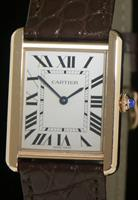 Pre-Owned CARTIER TANK SOLO 18KT GOLD AND STEEL