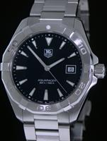Pre-Owned TAG HEUER AQUARACER QUARTZ BLACK DIAL