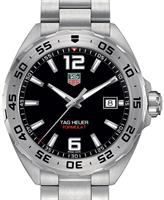 Pre-Owned TAG HEUER FORMULA 1 BLACK DIAL ALL STEEL