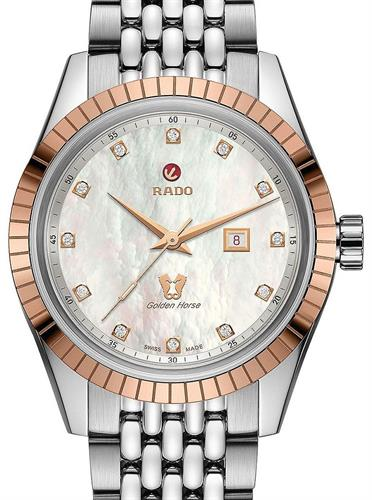 Golden Horse Mother Of Pearl R33102903 Rado Tradition Wrist Watch