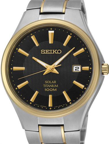 Sne Stock Price >> Solar 2-Tone Titanium Black sne382 - Seiko Sport wrist watch