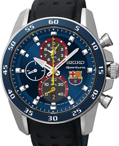 Sportura Barcelona Alarm Chron Spc089 Seiko Sportura Wrist Watch