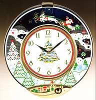 seiko clocks qxm117grh - Musical Christmas Clock