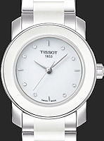 Pre-Owned TISSOT WHITE STEEL/CERAMIC DIAMONDS